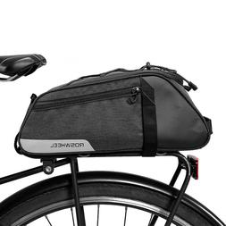 ROSWHEEL 7L Bicycle Trunk Bag Carrier Rear Seat Pack Pannier