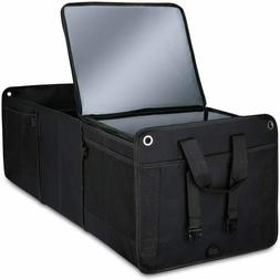 Car Trunk Organizer Cooler Bag 4 in 1 Collapsible Storage Fo