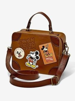 Loungefly Disney Mickey Mouse Traveling Suitcase Bag Trunk C