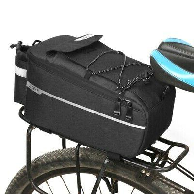 cycling bicycle rear seat storage trunk bag