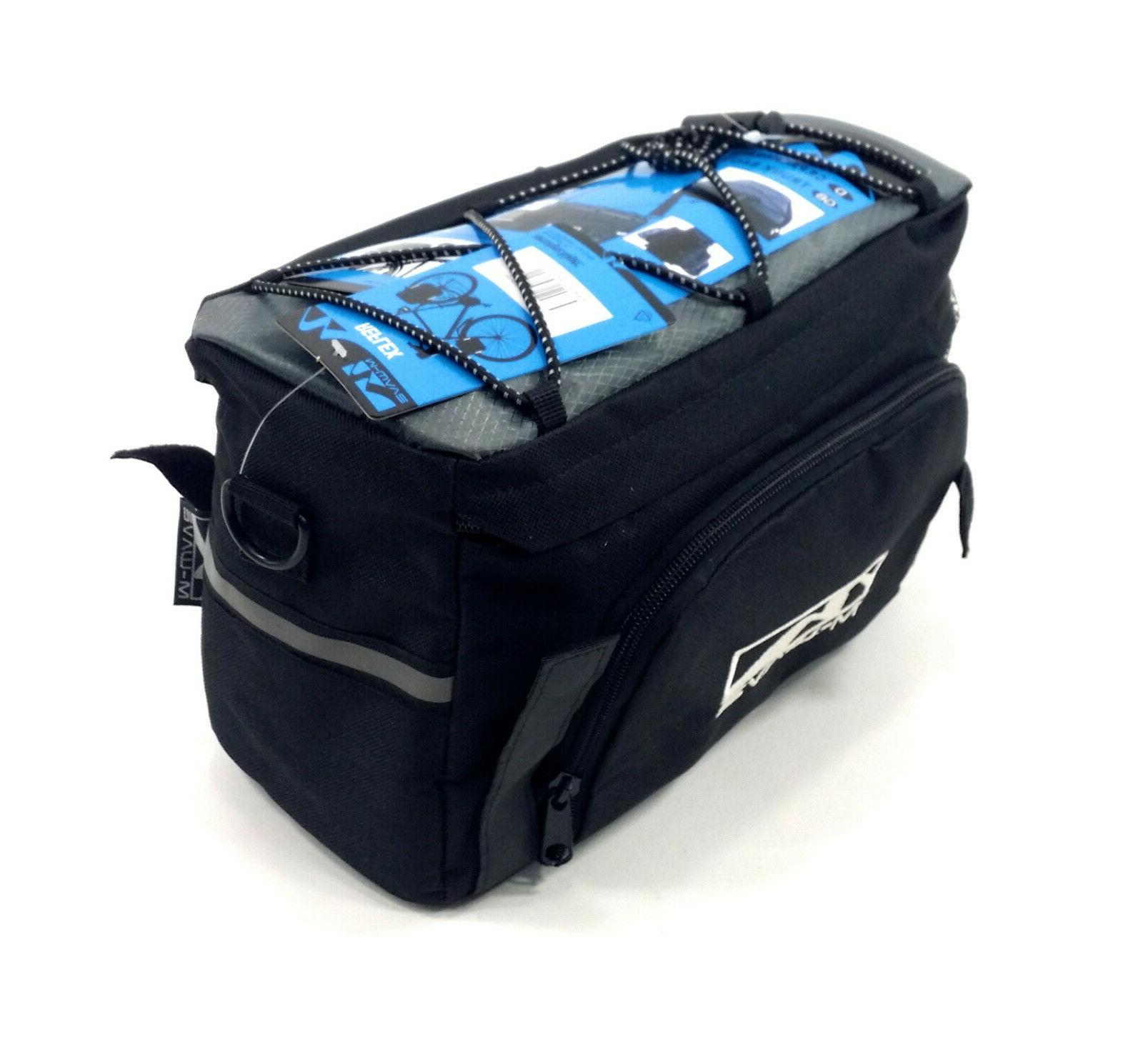 m wave amsterdam trunkbag expandable bicycle rear