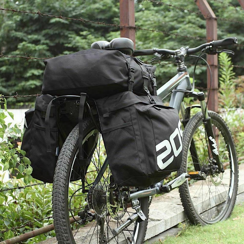 Trunk Bags Bicycle 3 In 1 Double Rear Rack
