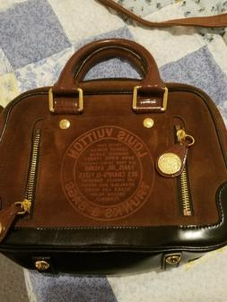 LIMITED EDITION LOUIS VUITTON BOWLER HAVANE STAMPED TRUNK HA