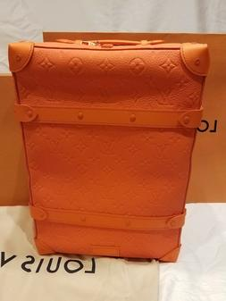 LOUIS VUITTON ORANGE SOFT TRUNK BACKPACK LIMITED EDITION