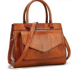 Woman's Luxury Handbags With Pouch Ladies Trunk Tote Shoulde