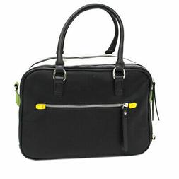 Women's Faux Leather Bag Trunk 2 Handles Multicolor With Sho